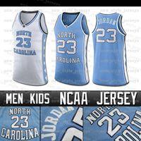 Kuzey Carolina MJ 23 Michael Jersey 15 Carter Vince Tar Topuklar Erkekler Allen çocuklar Iverson kolej basketbol Jersey