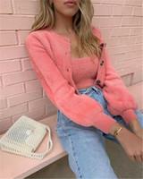 Kadın Bayanlar Fleece Kürk Sıcak kırpılmış Tops ve Ceket Dış Giyim Kış Sonbahar Kabarık Coat Streetwear 2PCS ayarlar