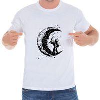 Pamuk Kısa Kollu Tee 2018 Yaz Casual Yeni ay Sıcak T-Shirt Mens Özel Baskılı Tops Kazı