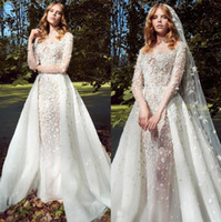 Zuhair Murad Mermaid Lace Wedding Dresses With Detachable Tr...