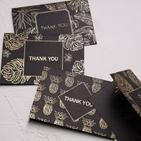 10 pz / lotto Creative Greeting Card Set Foil Rainforest Grazie Card per il compleanno di Natale con busta di scrittura regalo di cancelleria
