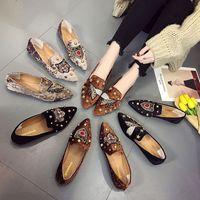 diseñador de moda de zapatos del holgazán de las mujeres planas de los zapatos del resbalón casual en el único paño de los zapatos de punta estrecha Moda Mujer Calzado Alpargatas regalo para la muchacha