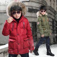 lungo al dettaglio inverno Alte ragazzi giù capretti del cappotto progettista addensare incappucciati giacche cappotti soprabito di modo outwear