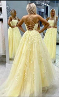 Ladies' Lace Appliques Prom Dresses Long Spaghetti Stra...
