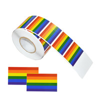 NEWRainbow 플래그 게이 프라이드 스티커 -500Count 사랑 레인 보우 스티커 롤 심장 - 모양, 선물, 공예, 플래그에 대 한 자존심 씰링 봉투 씰링,