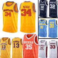 Universidad de Maryland Jersey 34 Len Bias Universidad jerseys del baloncesto NCAA para hombre barato al por mayor Jersey Tamaño S-XXL