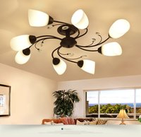 Modern Led Chandelier Rotate Flower Lighting Fixture Coffee ...