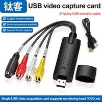 متوافق مع جميع أنظمة التشغيل USB بطاقة فيديو HD لايف تسجيل EASYCAP على طول الطريق المراقبة بالفيديو القبض على بطاقة
