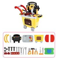 27pcs Kids Trolley Toys Children Simulation Repair Tools Edu...