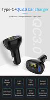 차량용 충전기 PD 2.0 USB C + QC 3.0 + USB 2.0 3 포트 최대 32w 빠른 USB 충전기 C02