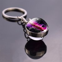 Glow In The Dark Solar System Planet Keyring Galaxy Nebula L...