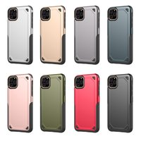 Coque de protection robuste et antichoc Hybrid Armor Cover pour iPhone 11 XI X Xr Xs Max 8 7 6 6S Plus Samsung S8 S9 S10 Plus S10E Note 10 Pro