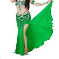 밸리 댄스 의상에 대한 여성 전문 공연 분할 스커트 드레스 동양 인도 댄스 의류 12 색