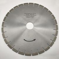 Lama diamantata diamantata silenziosa da 16 pollici (400 mm) per sega a ponte in pietra granitica Disco da taglio disco foro interno 50/60 mm Altezza segmento 15 mm