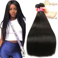 5 пучков Бразильские девственные прямые волосы необработанные бразильские прямые человеческие волосы плетение перуанских индийских прямых волос ткани