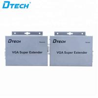 Sıcak öğe 100M VGA genişletici alıcı ve verici bir video 1920x1200 1080P ses ve video CAT5e / 6 VGA Ses Süper Extender