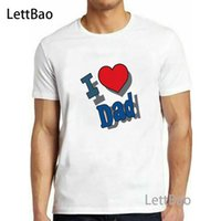 2020 I Love Dad New Men Summer Casual Cotton Father' s D...
