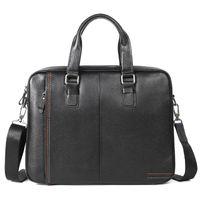 Nesitu High Quality A4 Black Blue Coffee Genuine Leather Office Men Briefcase Portfolio Business Shoulder Messenger Bags M255605