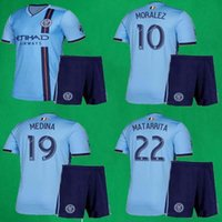 2019 New York Soccer Jersey Shorts 19/20 MLS City Home PIRLO DAVID VILLA MORALEZ LAMPARD Fútbol Kits NYC Adulto Azul Camisetas de fútbol Pantalones