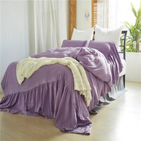 Twin Queen King Size Beddingset Washed Mermaids Purple Beddi...