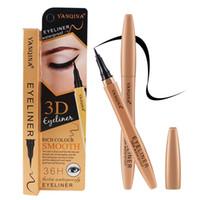 YANQINA 36H أسود مقاوم للماء السائل كحل أدوات المكياج 3D طويلة الأمد العين بطانة قلم رصاص
