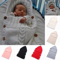 Baby Swaddle Wrap Warm Wool Crochet Knitted Newborn Infant S...