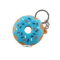 Donut-Art-Silikon kleine Ölbrenner Rohre Kunst Bunte Hand Rohr Pyrex Rauchpfeifen mit Schlüsselanhängern und Glasschüssel Großhandel