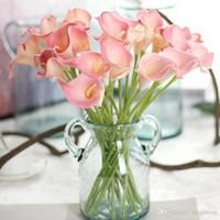 11 cores artificiais Vintage Flores Calla Lily Buquês 34,5 CM / 13,6 polegadas para Bridal Wedding Bouquet Decoração
