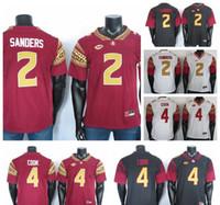 FSU College Jersey Jersey Dalvin Cook Jersey Deion Sanders 2019 NCAA Florida State Seminoles Jerseys nero rosso bianco 150th