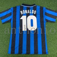 1997/98 레트로 축구 유니폼 빈티지 클래식 Ronaldo 9 Baggio 10 Fresi 11 Jugovic 8 Maillot de Futbol 1998 팀 유니폼 키트 타이어 품질 축구 셔츠 크기 S-XXL 95/96