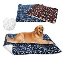 Letto per cani Mat Pet Cuscino coperta calda Paw Print del gatto del cucciolo in pile letti per le piccole grandi cani gatti Pad Chihuahua Cama Perro