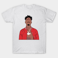Atlanta rappeur 21 Savage Minimaliste imprimer hommes occasionnels o-cou des hommes de chemise t chemises mode t hommes manches courtes T-shirt cmt