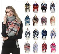 Kadınlar Ekose Kare Eşarp Moda Lady 140 * 140cm kontrol Kış Sıcak Kaşmir Eşarplar Şal Boyun Isıtıcı Wrap Noel hediyeleri DA105