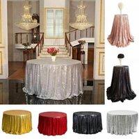 Gold Silber Tischdecke Stoff Tischläufer Sparkly Bling für Hochzeit Dekoration Qualitäts-Produkte