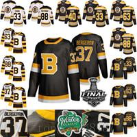 세 번째 검은 보스턴 Bruins 37 Patrice Bergeron Brad Marchand Tuukka Rask 데이비드 Pastrnak Krejci Zdeno Chara 2019 겨울 클래식 하키 유니폼