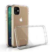 para iPhone 11 Pro Max X XR XS MAX 6 7 8 Plus 5G Cristal Transparente Airpillow macio TPU à prova de choque Limpar a caixa do telefone