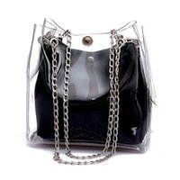 Fashion DCOS Women Small Bucket Bags Plastic Transparent Tot...
