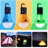 Linternas portátiles a prueba de agua Lámpara de carpa Bombilla LED Luz de noche de emergencia Linterna que acampa para acampar Senderismo Batería al aire libre