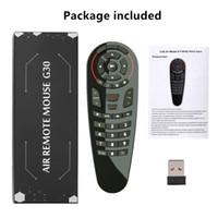 G30S Aero mouse senza fili di Google Voice Air Mouse 33 tasti del telecomando Gyro intelligente IR apprendimenti per il contenitore di Android TV Mini PC