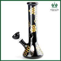 10-Zoll-Becherbang-Glas-Wasserleitungen rauchender Hukahn-DAB-Rig mit dem Download 14mm Bowl Piece Wax Bubblers