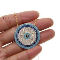 2019 Новый микро цирконий греческий сглаз Шарм серебряный цвет повезло голубые глаза ожерелье элегантные женщины девушки изысканный подарок ювелирные изделия V191129