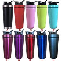 550ml Edelstahl-Metall Protein Shaker Cup Blender Mixer Bottle Sport-Wasserflasche mit lecksicheren Deckel
