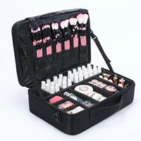 Travel Makeup Bag Professional Make Up Box Cosmetics Pouch B...
