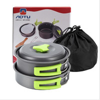 Camping Cookware Mess Kit Lightweight Compact Durable Pot Pa...