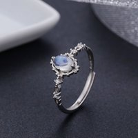 Vintage Style 925 Sterling Silver Round Natural Moonstone Ri...