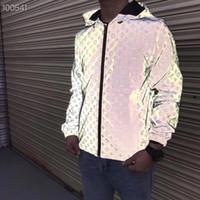 Erkek Tasarımcılar Ceket Rahat Hiphop Rüzgarlık 3 M Yansıtıcı Ceket Yeni Desen Klasik Marka Tasarımcıları Erkekler ve Kadın Severler Spor Ceket Hoo