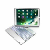 Yeni İpad Pro 9.7 Tablet Koruyucu Kılıf Arka Işık 2 Kablosuz Alüminyum Bluetooth Klavye