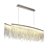 Lüks LED Kolye Işık krom zincir post modern Ev Dekorasyon Diningroom Restoran asılı Işık Nordic beyaz sıcak beyaz