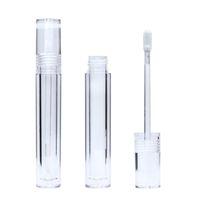 Esvaziar 7,8 mL Lipgloss tubos redondos de cristal transparente Lip Gloss tubos com Wand esvaziar Lip Gloss tubos transparentes rápido transporte F3864