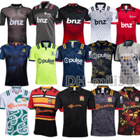 2019 Neueste Chiefs Super Rugby Jersey Thailand Qualität 18/19/20 Neuseeland Super Chiefs Blues Crusaders Highlanders Trainingshemden Rugby